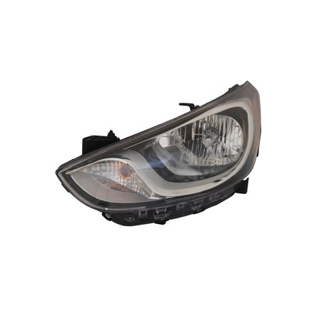 Replacement TYC 20-12694-00-9 Driver Side Headlight For 12-14 Hyundai