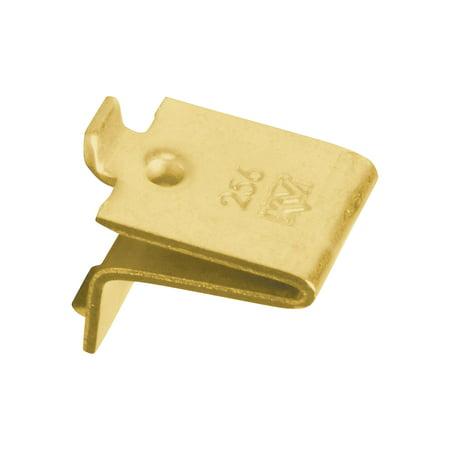 - Knape & Vogt Adjustable Steel Pilaster Shelf Support Clip, Brass, 20 Pack
