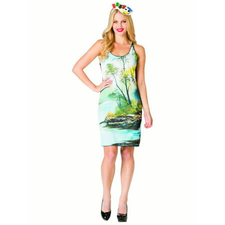 Women's Bob Ross Tank Dress](Friends Ross Halloween)