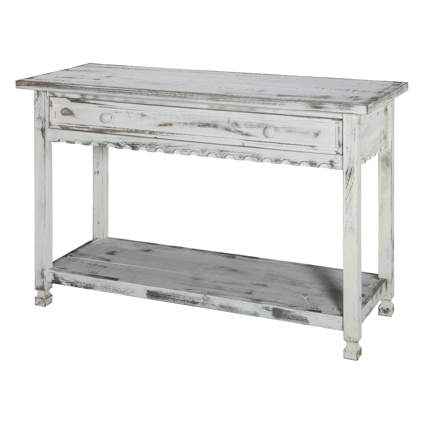Console Table Hardwood White - Alaterre Furniture