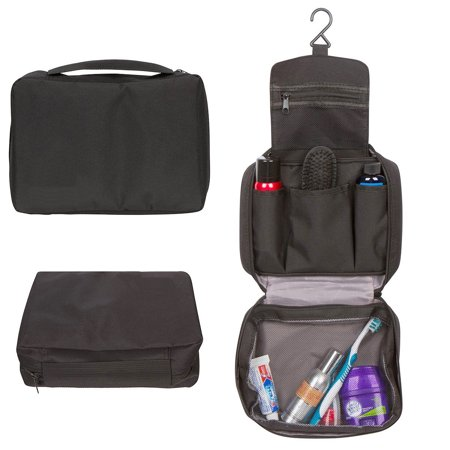 333d1dba997b GOSO Mens Toiletry Bag Hanging Travel Bag For Men With 6 Compartment