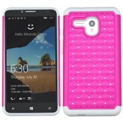 Bling Rhinestone Impact/Silicone Protector Case for Alcatel One Touch Fierce XL