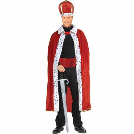 King Robe and Crown Adult Halloween Costume (Burger King Halloween Outfit)