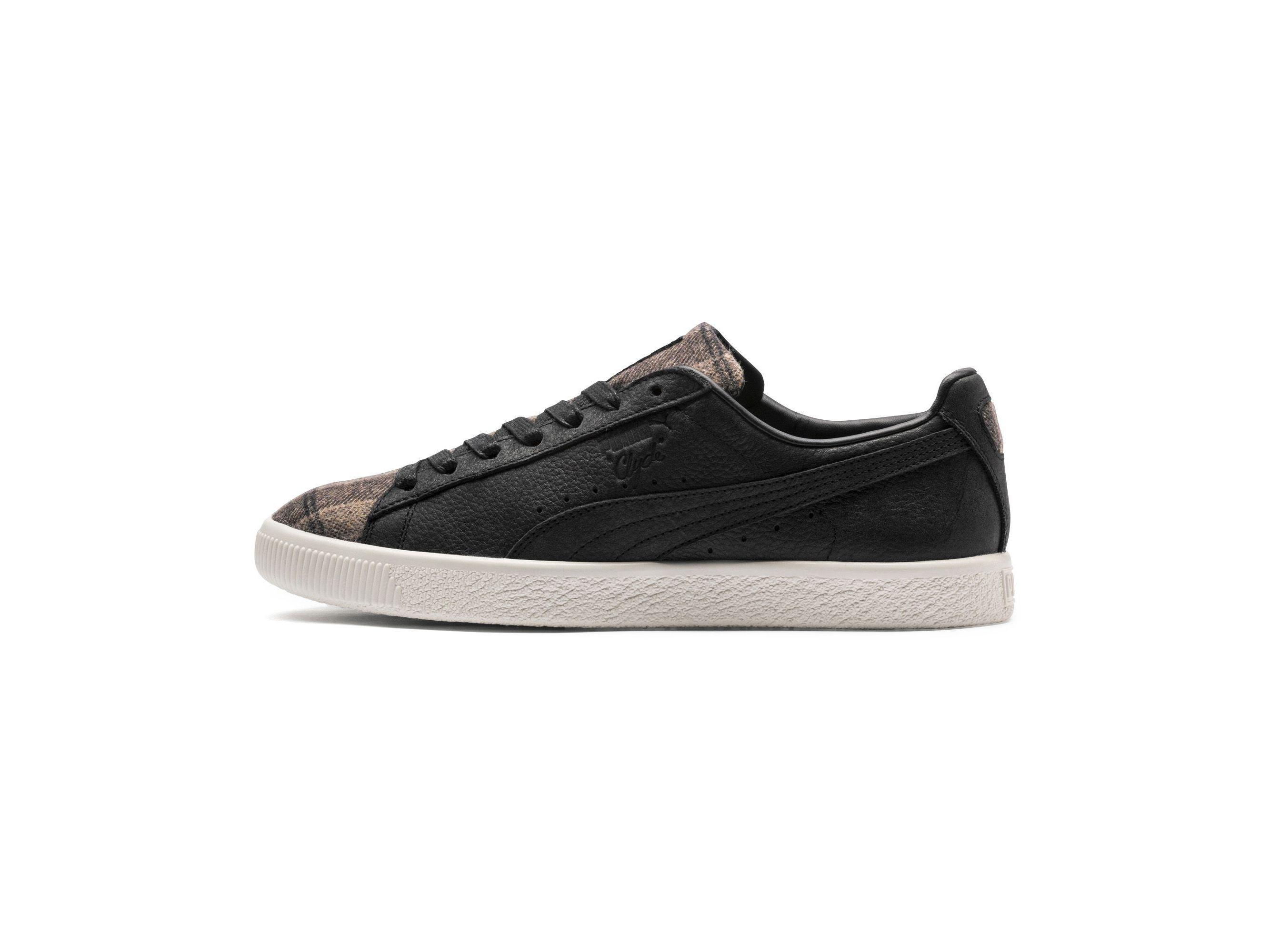 online store fc97b 8473c Puma Womens Clyde Plaid Suede Low Top Lace Up Fashion Sneakers
