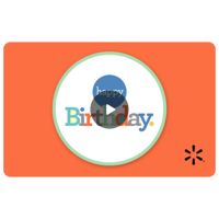 Happy Birthday Postcard Walmart eGift Card