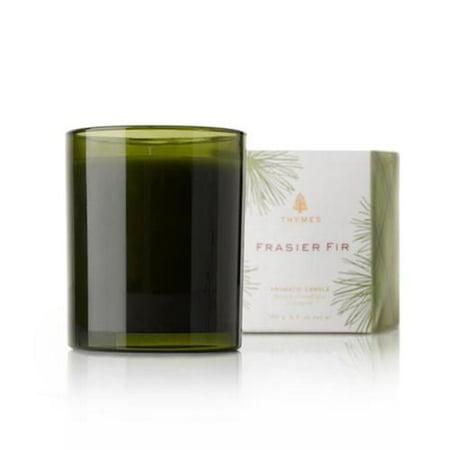 Thymes Frasier Fir Green Glass Candle - 6.5 oz (Thymes Frasier Fir Refill)