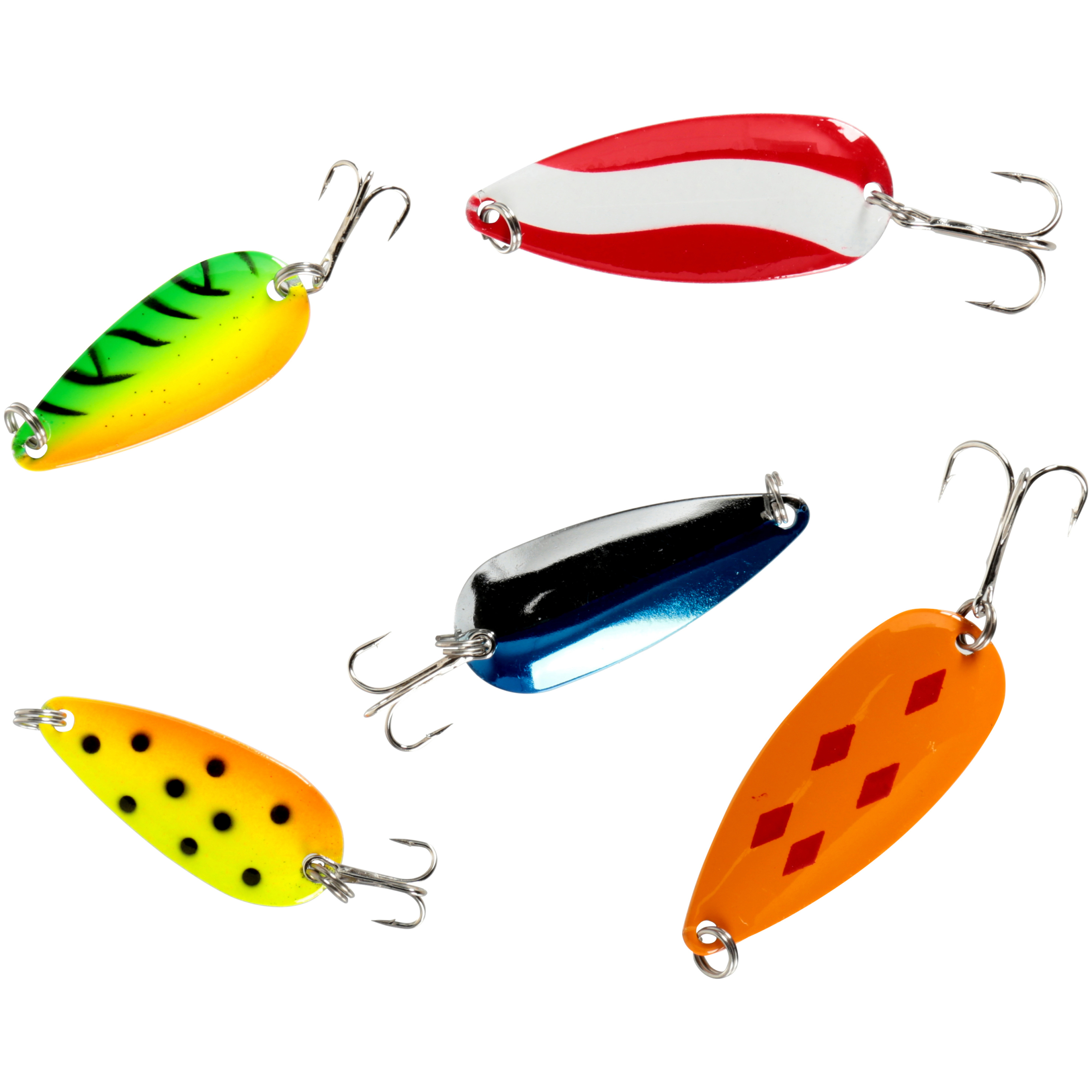 South bend super spoon assortment 5 pc lures pack