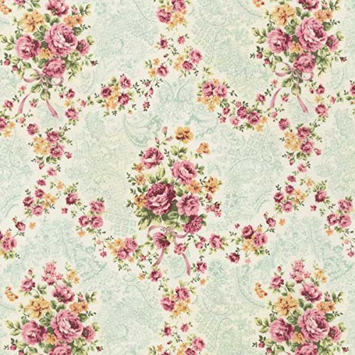 Clearance Sale~Emma 2-Rose Garland/Slate by Robert Kaufman-Cotton Fabric