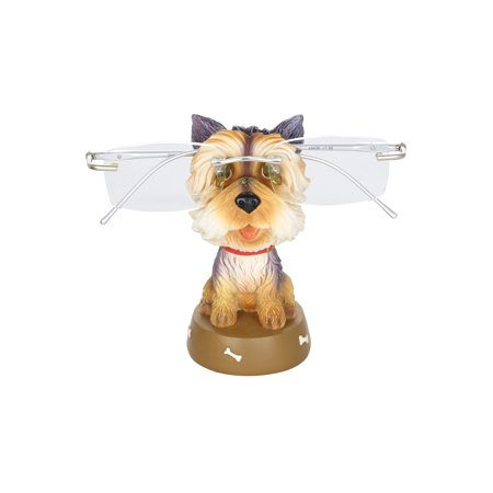 Yorkshire Terrier Dog 4.5 Inch Animal Eyeglass Holder Whimsical Figurine Home Office Decor Display Accessory