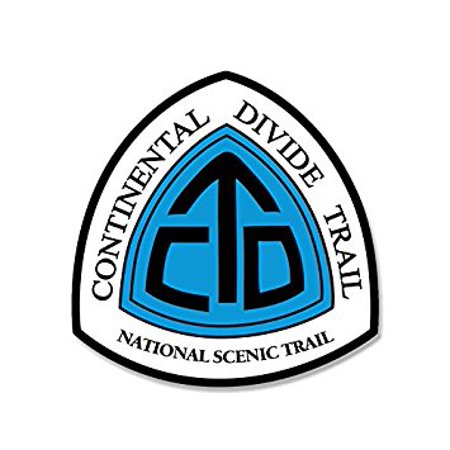 Continental Divide Trail National Scenic Sign Shaped Sticker Decal (hike decal) Size: 4 x 4 inch Continental Divide National Scenic Trail
