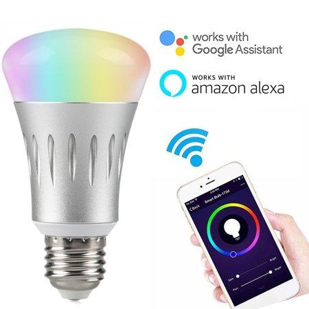 wifi led light bulbs eeekit 7w e27 wireless wifi remote control smart bulb lamp light. Black Bedroom Furniture Sets. Home Design Ideas