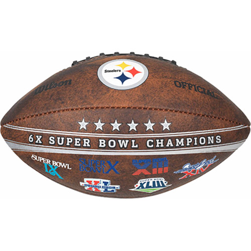 Wilson NFL Commemorative Championship 9 Inch Football, Pittsburgh Steelers