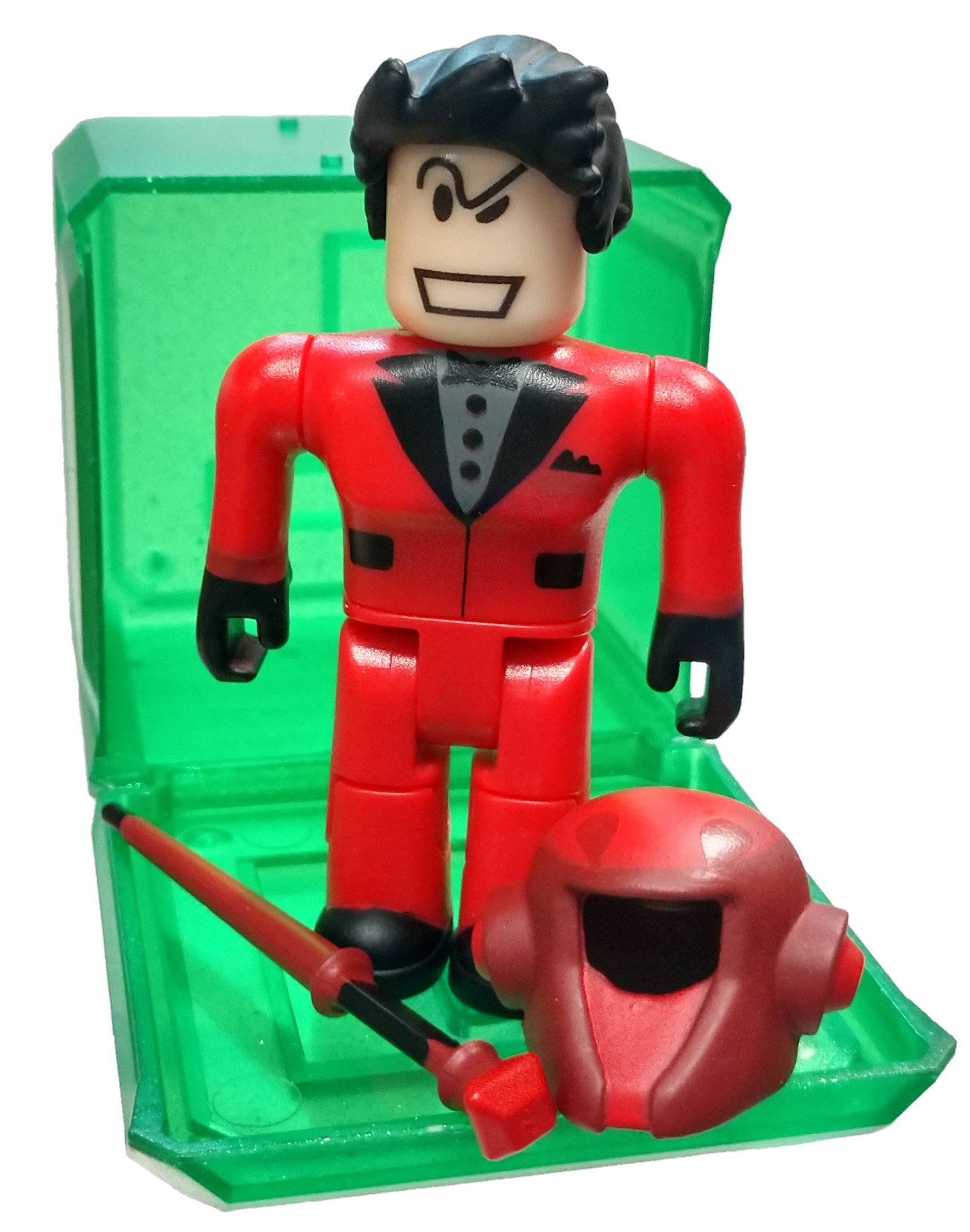 Red Suit Roblox Roblox Celebrity Collection Series 4 Rockin Red Suit Mini Figure With Green Cube And Online Code No Packaging Walmart Com Walmart Com