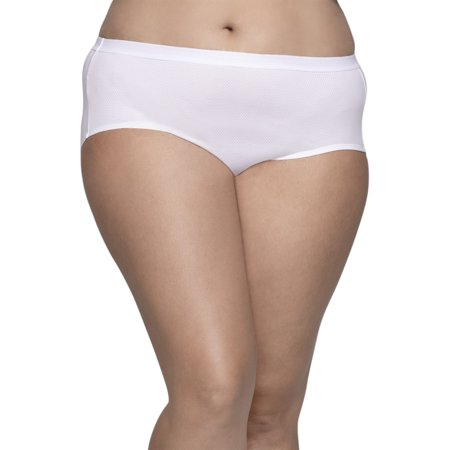250bb6978d3783 Fit for Me by Fruit of the Loom - Women's Plus Assorted Breathable Micro-Mesh  Hipster Panties, 6 Pack - Walmart.com