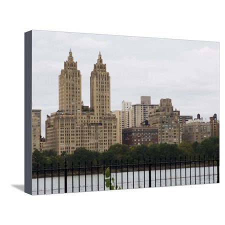 The San Remo Building Overlooking Central Park, Manhattan, New York City, New York, USA Stretched Canvas Print Wall Art By Amanda