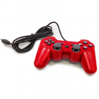 Gaming Controller for PlayStation 3, Red (Ps3 Controller Rainbow)