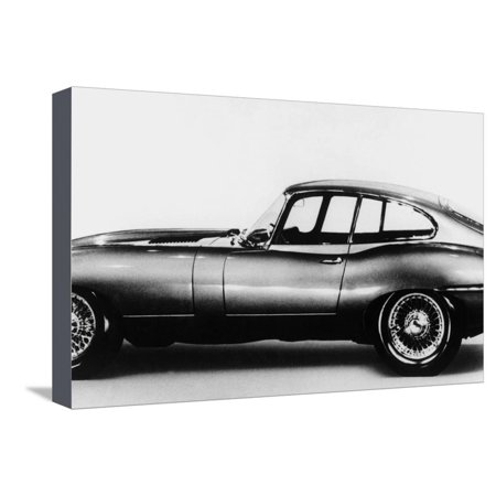 New Jaguar Car Will Be Presented for the First Time in Geneva Car Fair March 16, 1961 Stretched Canvas Print Wall
