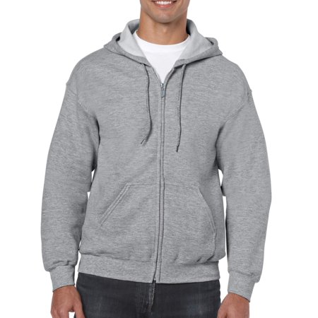e83d0d1f7 Gildan - Gildan Men s Full Zip Hooded Sweatshirt - Walmart.com