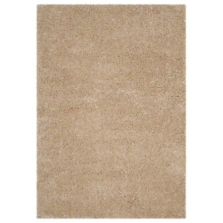 Shag Area Rug In Light Beige