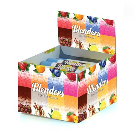 Blenders BLENDERS 36DIS Blenders Lip Balm Sticks 24 Count Display Box Blenders Lip Balm Sticks 24ct Display BoxCosmetics If there is anything that a woman adores besides jewellery that has to be cosmetics. Make up gives a lot of confidence as it does wonders to your look by giving you the best touch. Browse our wide range of products and choose from an unending range of Cosmetics.Blenders Lip Balm Sticks 24 Count Display Box. FeaturesBlenders Lip Balm Sticks Display Box24 Count- SKU: WBCD1020