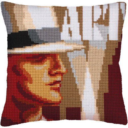 Collection D'Art Stamped Needlepoint Cushion Kit, 40cm x 40cm, Art Deco I