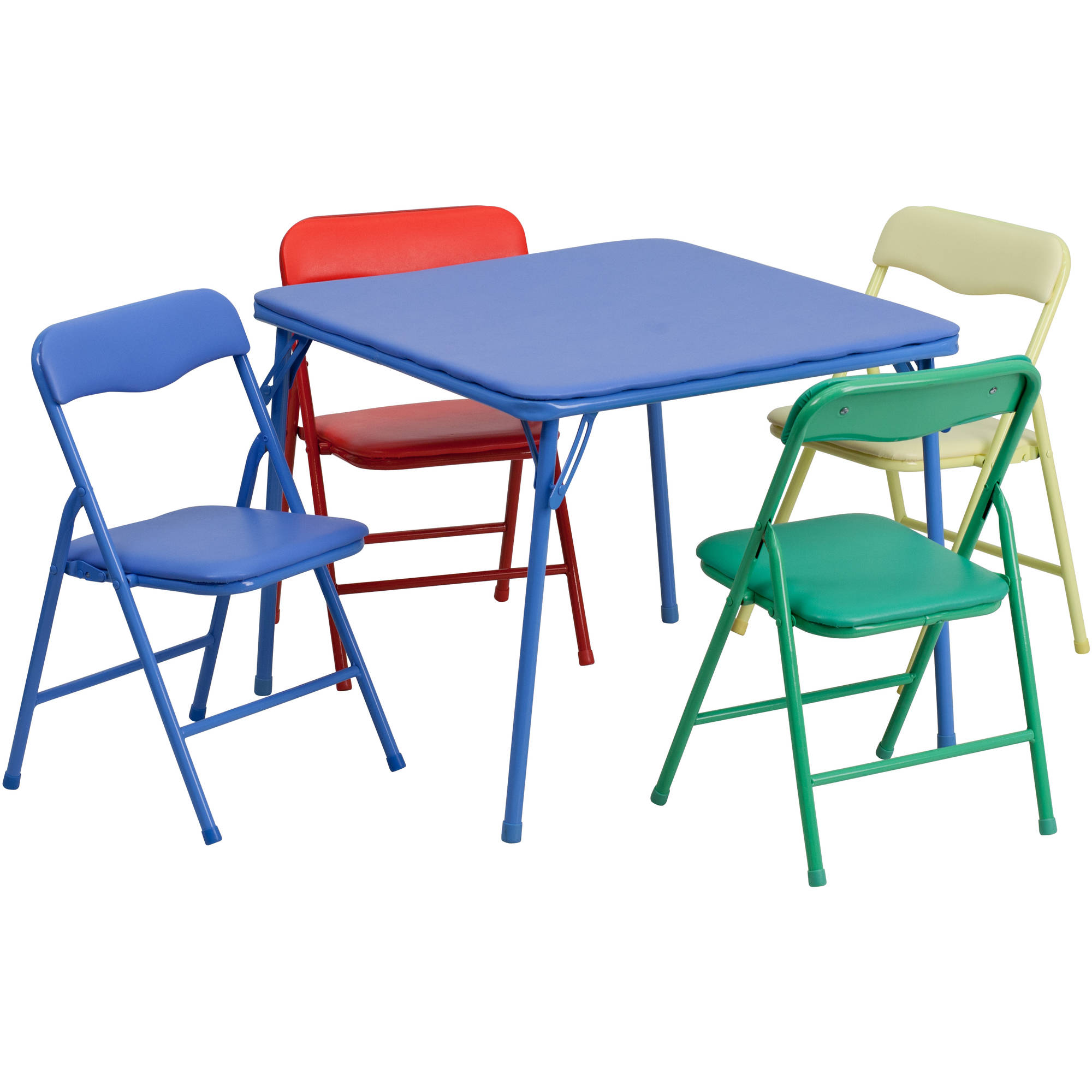 Delightful Flash Furniture Kids Colorful 5 Piece Folding Table And Chair Set