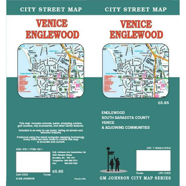 Venice & Englewood Florida Folded Map - Walmart.com ...