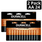 (2 Pack) Duracell 1.5V Coppertop Alkaline AA Batteries, 24 Pack
