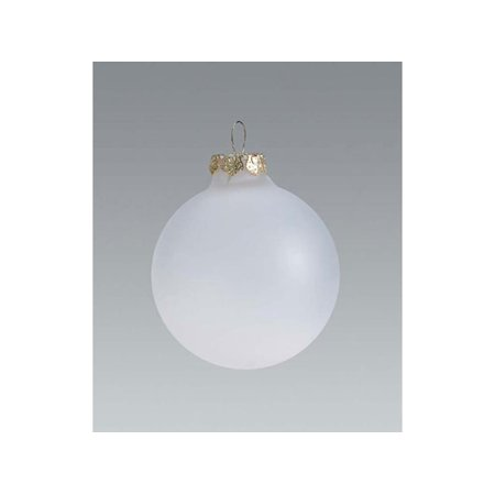 3 Pack Glass Ball Ornaments (Frosted Glass Ornaments: 70mm Glass Balls, 6 pack)