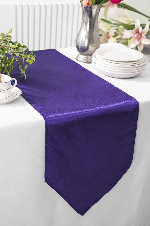 Purple Polyester Table Runner Wedding Table Runners