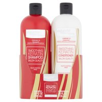 Equate Beauty Smoothing Keratin Shampoo & Conditioner, Twin Pack, 50 fl oz