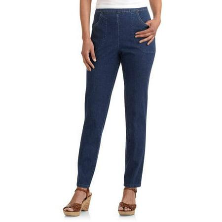 RealSize Womens 2 Pocket Stretch Denim Pull On Pant Miss Me Flap Pocket Stretch Jean