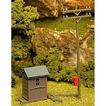HO Scale Telephone Shanty & Pole Kit