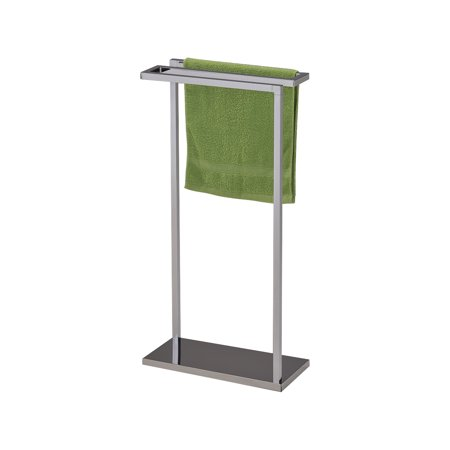 pilaster designs chrome finish metal free standing towel rack stand. Black Bedroom Furniture Sets. Home Design Ideas