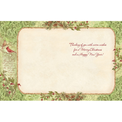 "Lang ""Woodland Santa"" Boxed Christmas Cards"
