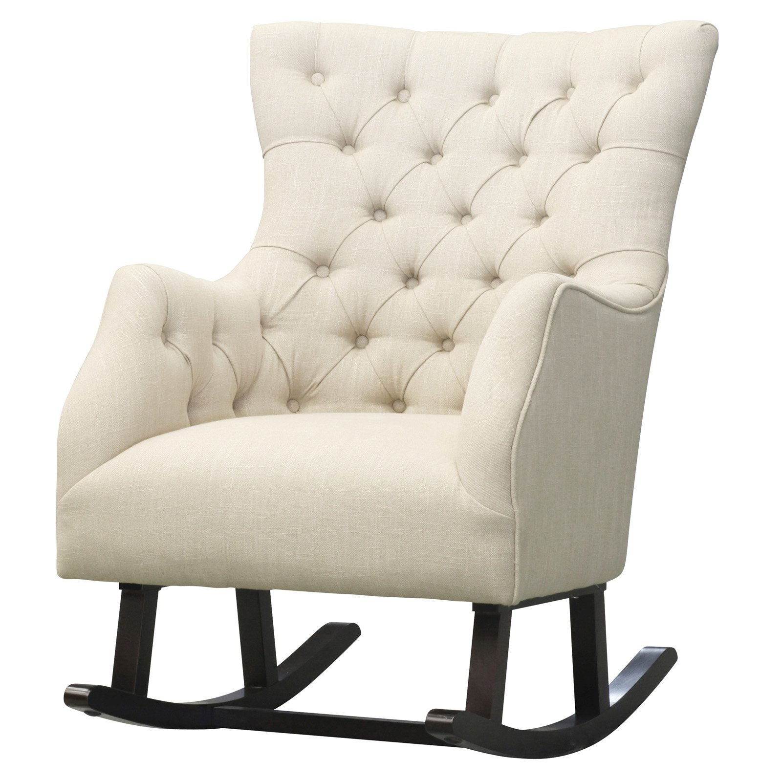 Charmant Abigail Fabric Tufted Rocking Chair   Walmart.com