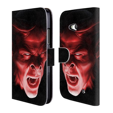 OFFICIAL TOM WOOD HORROR LEATHER BOOK WALLET CASE COVER FOR MICROSOFT NOKIA PHONES (Clown Demon)