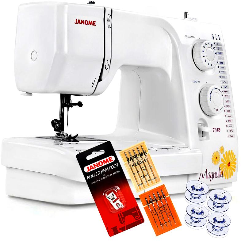Janome Magnolia 7318 Sewing Machine w/ FREE! 4-Piece V.I.P Reward Package