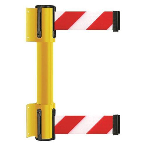 TENSATOR 896T2-35-MAX-D3X-C Belt Barrier, 13 ft, Red w/White Stripe