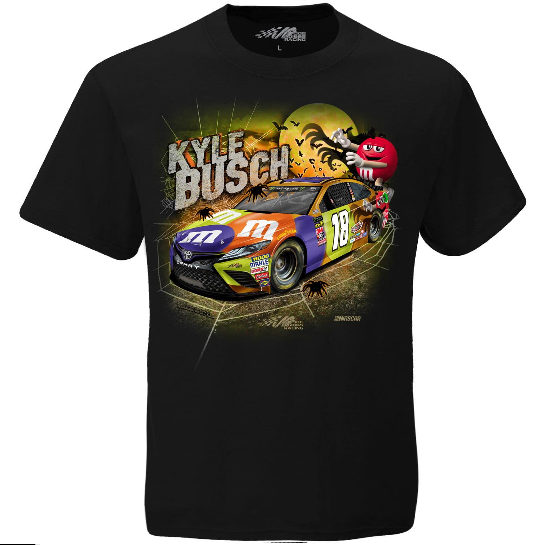 Kyle Busch Joe Gibbs Racing Team Collection Halloween T-Shirt - Black