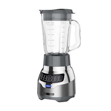 BLACK+DECKER PowerCrush Digital Blender with Quiet Technology, Stainless Steel, (Black And Decker Blender Food Processor Combo)