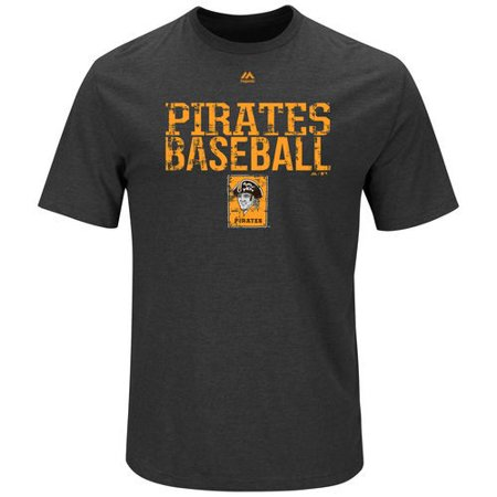 Pittsburgh Pirates Majestic Cooperstown Collection One Winner T-Shirt - Charcoal