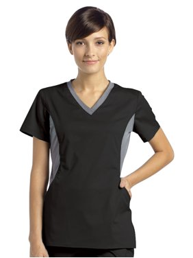 17eafc23976c83 Product Image Allure Yoga Inspired Side Panel Scrub Top