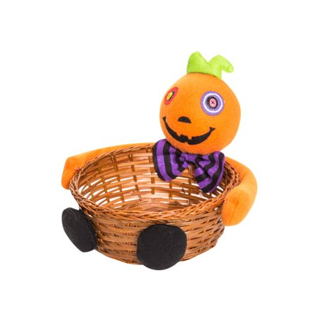 Mosunx Halloween Witches Ghosts Bats Pumpkins Candy Basket Party Storage Basket Gift OR
