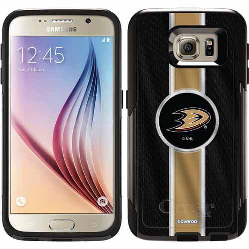 Anaheim Ducks Jersey Stripe Design on OtterBox Commuter Series Case for Samsung Galaxy S6