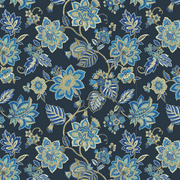 "Waverly Inspirations Cotton Duck 45"" Floral Blue Fabric, per Yard"