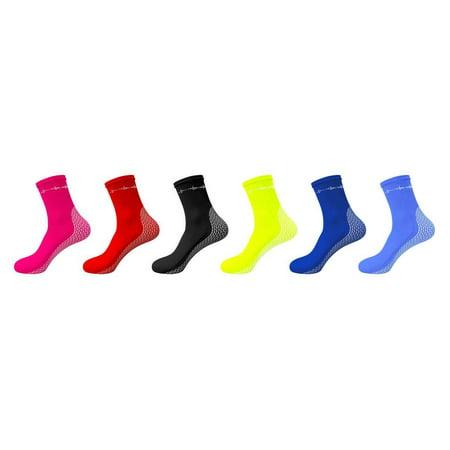 ScubaMax Lycra Socks w/Sole Skin Scuba Diving Snorkeling Booties (Black Lycra Dive)