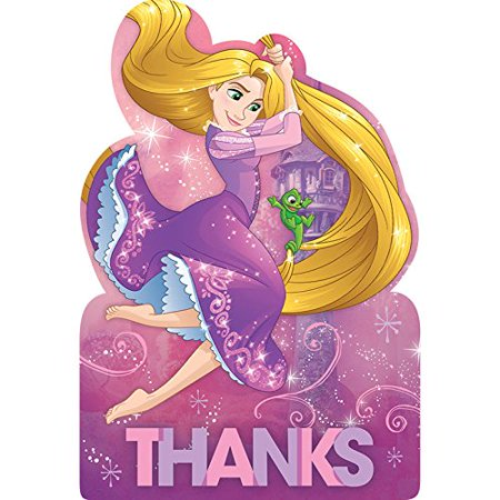 Tangled Postcard Thank You's (8 Count) - image 1 de 1