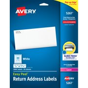 "Avery Easy Peel Return Address Labels, 1/2""x1-3/4"" 2,000 Labels (5267)"