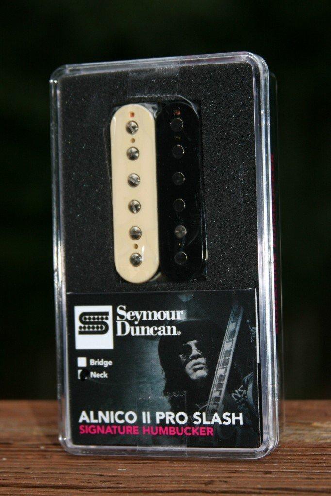 Seymour Duncan APH-2n SLASH Alnico Pro II 2 Humbucker Neck Pickup Zebra 11104-06-Z by Seymour Duncan